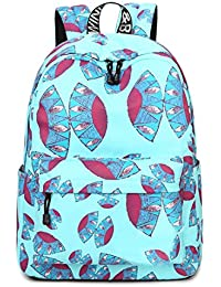 Inwagui Sac Dos College Adolescente Fille Backpack Polyester Enfant Sac d  Ecole Cartable pour Voyages, 3553bb0a4607