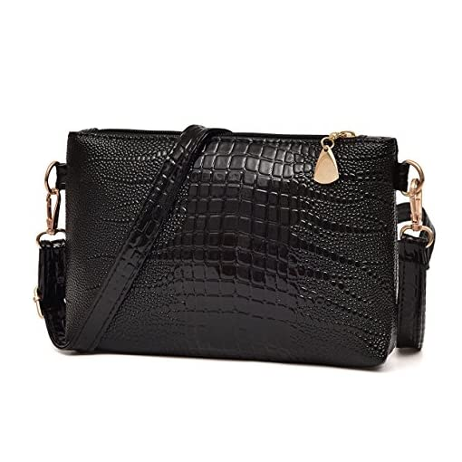 Yuan Clearance Handbag Crocodile Pattern Shoulder Bag Cross Body Bag Tote Ladies Purse