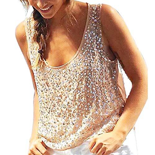 GREYF Damen V-Ausschnitt Hemdbluse Chiffon Blusen Frauen T-Shirt Tops Sommer Einfarbig Kurzarm Casual Tunika Loose fit(S,Beige)