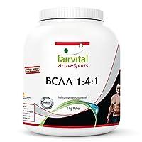 BCAA Pulver 1:4:1 (1 kg) - Reinsubstanz ohne Zusatzstoffe