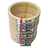 10 Stück 13cm Stickrahmen Set Bambus Kreis Kreuzstich Hoop Rings