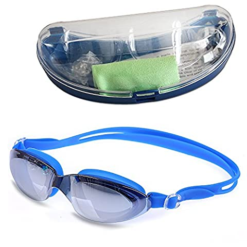 Kingseye Anti-Fog 100UV Swimming Goggles with Protective Case , Nose Clip , Ear Plugs for Adult Children Men Women And Kids.