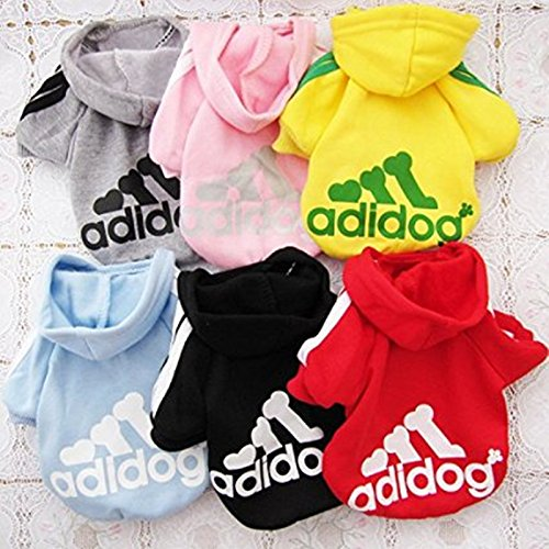 Idepet Spring Autumn Pet Dog Cat Clothes Coat Puppy Hoodie Soft Cotton Adidog Clothing 7 Colors Small Size S M L Xl XXL Dog Jacket