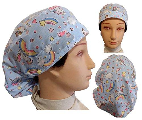 Hut des Operationssaals. UNICORNIES für Frauen, für lange Haare, Krankenpflege, Zahnarzt, Veterinär, Küche, Handtuch vorne, verstellbar im Rücken, passt alle Haare