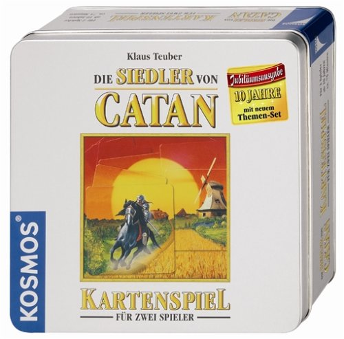 Kosmos Catan Kartenspiel Jubilumsausgabe in Blechdose