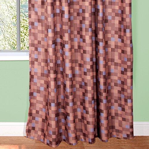 Pixel Ready-Made Light-Reducing Eyelet Curtains (Brown, 117cm Width x 137cm Drop (46″x 54″)