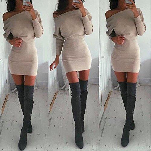 Outstanding® Donna Inverno a maniche lunghe jumper Maglioni Vestito aderente corto abito Slim