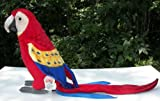 Hansa 3067 13 in. H Scarlet Macaw Toy