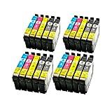 LS 20 Patronen für Epson T0711-T0714 8xbk 4xcmy 8xBlack,14 ml 12xColor,14 ml,kompatibel