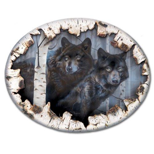 The Bradford Exchange Birkenrinde Wolf Leinwand Watchers in The Wild Wand Decor