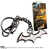 Noble Collection Batman Shaped Logo Keychain Black