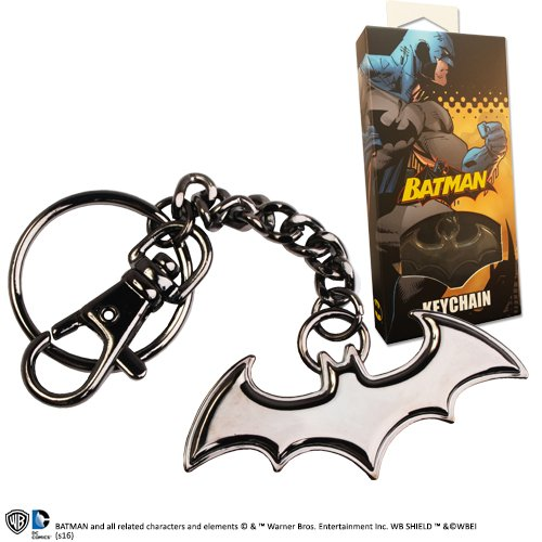 The Noble Collection Batman Shaped Logo Keychain Black