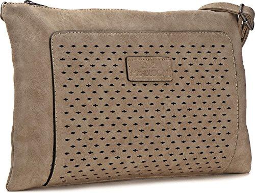 Borse MIYA BLOOM, borse da donna, borse da sera, sottobraccio, frizioni, borse a tracolla, borse crossover, 32,5 x 20,5 x 2 cm (L x A x P x P), colore: beige Beige