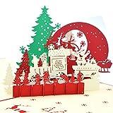 Medigy biglietti di Natale 3d pop up biglietto d' auguri fatto a mano, carta, senza copertura, Sabato Sera