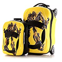Two Piece Kid's Travel Luggage suitcase Childred Trolley Case Cartoon Rolling Bag for School Kids Trolley Bag on wheels Boarding Box