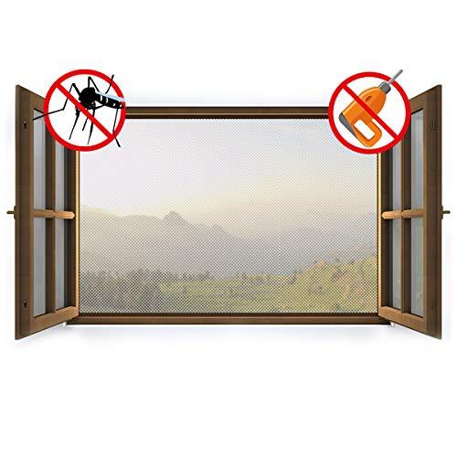 Sekey zanzariera per finestra | zanzariera protezione da insetti per finestre | zanzariera con cinturino in autoadesivo, adatto per 1,5 mx 1,8 m, bianco
