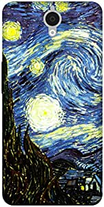 The Racoon Lean The Starry Night hard plastic printed back case / cover for Alcatel Onetouch Idol X Plus 6043D