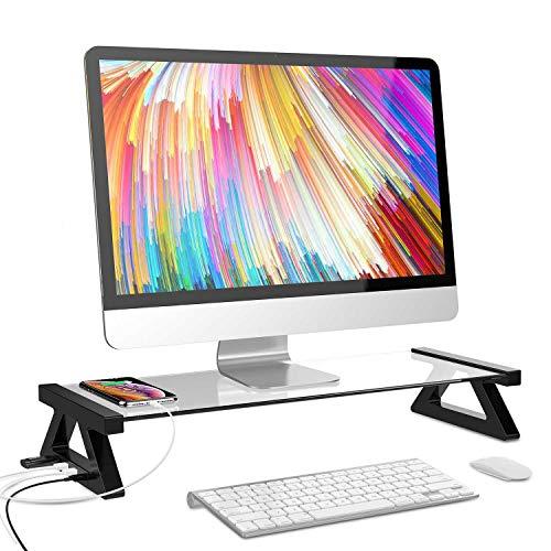 Regal Stehen (ZHJS Notizbuch Stehen Desktop - Computer - monitore unterstützen Desktop erhöht MIT USB - Spot - Regal weiß)