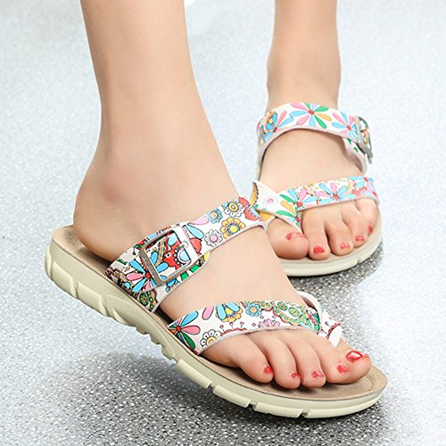 Sandales Mixte Adulte - Femme Tongs Chaussures - Sandales Homme Chaussures Fleur rouge
