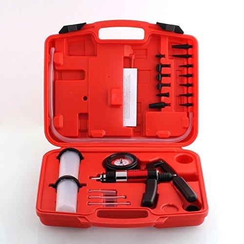 Femor Bremsenentlüftungsgerät Auto Werkzeug Bremsen entlüfter Set Vakuum Pumpe Satz inklusive Koffer