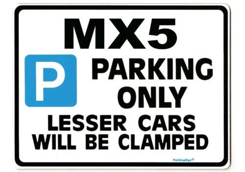 mazda-mx5-car-parking-sign-gift-for-mx-5-eunos-roadster-models-size-large-205-x-270mm