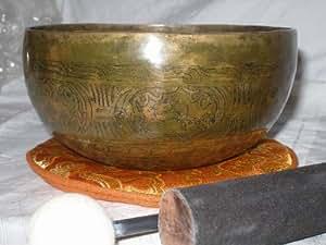 Antik Carved Tibet Klangschale ca. 700 gr. Set 4Tlg