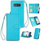 Cozy Hut Samsung Galaxy Note 8 Hülle Flip Case Schutz Klapphülle TPU Taschen Handycover Sleeve Stoßfest PU Leder Wallet Geldbörsen Kartenfach/ 9 Card Slot/Kickstand/Halterung Shockproof Hü