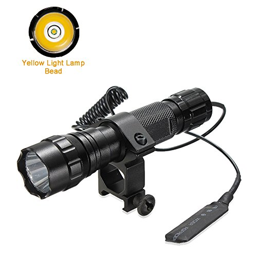 maketheone-torcia-led-tattica-torcia-manuale-unisex-yellow-light-torch-hunting-kit-unniveral