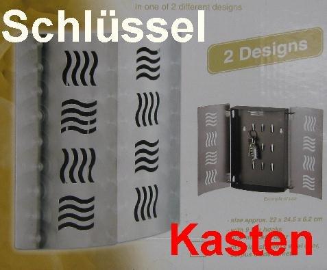 Schlüsselkasten, Edelstahl Schlüssel Kasten mit Magnetschloss und Haken, (Typ-2)