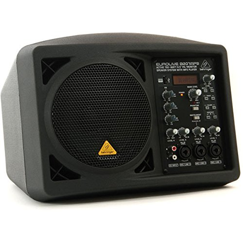 "Behringer Eurolive B207MP3 – Altavoz de Suelo (Active 150Watt 6.5"" PA/Monitor Speaker System with MP3 Player)"