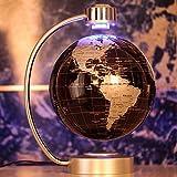 Welt Karte pädagogische Magnetschwebebahn schwebender Globus LED 8 Zoll Schwarz
