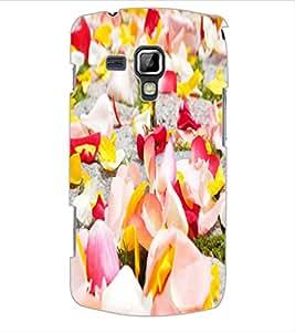 ColourCraft Flower Petals Design Back Case Cover for SAMSUNG GALAXY S DUOS S7562