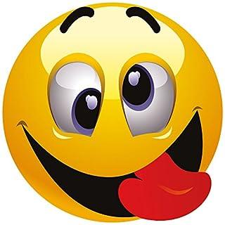 Smiley Fun Aufkleber Motiv 2, 20 cm, selbstklebend, glänzend für Auto, Motorrad, Fahrrad, Boot oder Caravan