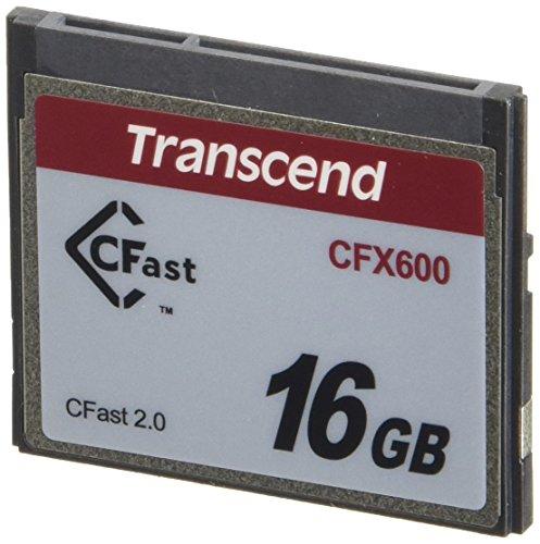Transcend 16GB CFX600 CFast 2.0 Memoria Flash SATA MLC - Tarjeta de Memoria (16 GB, SATA, MLC, 512 MB/s, Negro)