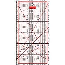 Patchwork Regla centímetros cuadrícula de 30cm x 15cm–rojo