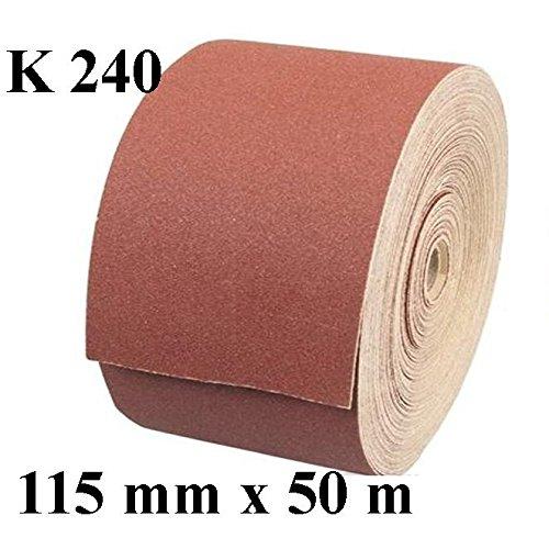 1 x Rolle Schleifpapier Kunstharz Schleifmittel Korn 240 Länge 50 m/Breite 115 mm