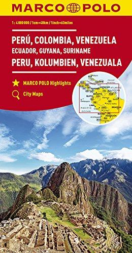 MARCO POLO Kontinentalkarte Peru, Kolumbien, Venezuela 1:4 000 000: Ecuador, Guyana, Suriname, Panama, Costa Rica, Nicaragua, Honduras, El Salvador: ... 000 (MARCO POLO Kontinental /Länderkarten)