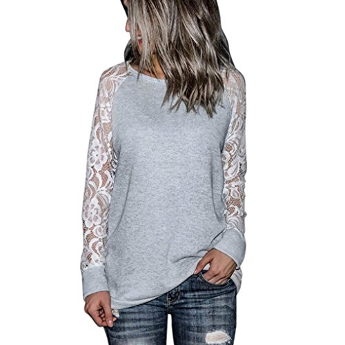 TWIFER Hot Selling Fashion Womens Autumn Winter Striped T Shirts Blouse Short Long Sleeve Tops Casual Lace Crop O-Neck Pullover T-Shirt