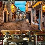 Fond D'écran 3D Personnalisé Ville Italienne Européenne Rue Européenne Paysage Tv Fond Peintures Murales De Salon, 200 × 150Cm