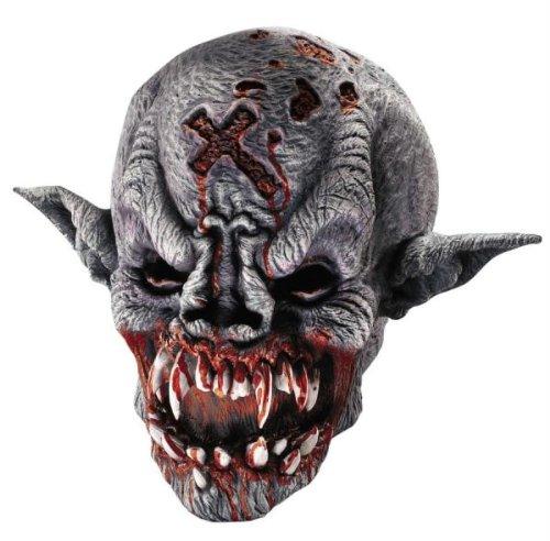 Vampire Demon Maske Halloween Kostueme Maske Gesicht Maske Over-the-Head-Maske Kostuem Stuetze Scary Creepy Schreckliche Maske Latex Maske fuer Maskerade Make-up Party