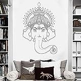 LUANQI Elefante Tatuajes de Pared Calcomanías de Patrones Indios Vinilo Adhesivo Decoración para el hogar Mural 57x85cm 3