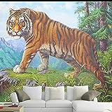 Fonds d'écran HD Nature paysages muraux, Animal tigre grand pour la télévision TV Salon papiers peints de mur, décoration 280 cm (L) x 180 cm (H)