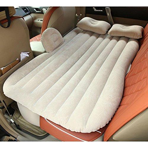 WANGXN In-Car Camping Air Bed Outdoor Reise aufblasbare Matratze Fahrzeug SUV Rücksitz erweiterte Kissen Schlaf Rest mit Luftpumpe und Kissen , beige
