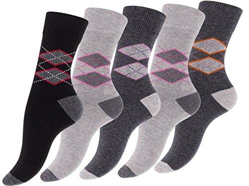 lot-de-10-paires-de-chaussettes-pour-les-femmes-et-fille-avec-design-karo-argyle-coton-avec-elasthan