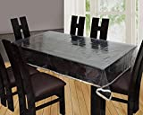 CASA FURNISHING 6 Seater PVC Table Cover; CLEAR SWEET GOLD LESS 60x90 Inches DINING TABLE COVER 6 SEATER]