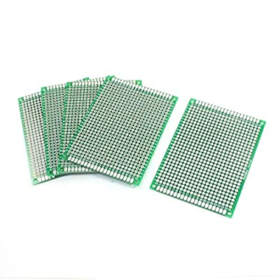 REES52 5Pcs Double Sided Prototyping PCB Printed Circuit Board 6cm x 8cm