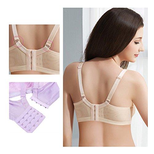 Zhhlaixing Women's Soft Reggiseno Allattamento Cotton Lace Breastfeeding Maternity Nursing Bra Vest Bras Underwear Nude