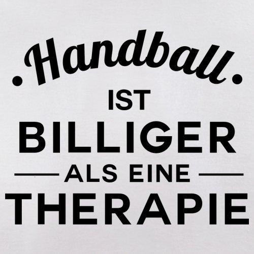 Handball ist billiger als eine Therapie - Herren T-Shirt - 13 Farben Weiß