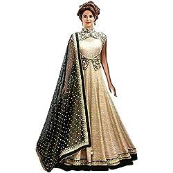Everest Enterprise Women's Banglori Gown (Cream3gown_Cream_Free Size)