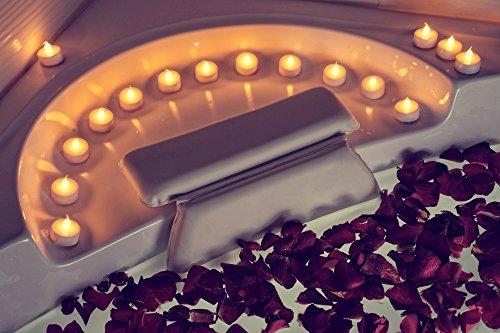 Kenley Badewannenkissen Badekissen - Antirutsch Kissen Polster für Badewanne Wanne Bad Whirlpool Wellness Spa - Nackenkissen Kopfkissen Wannenkissen mit Saugnäpfen für Nacken - Badeschwamm Inklusive - 2